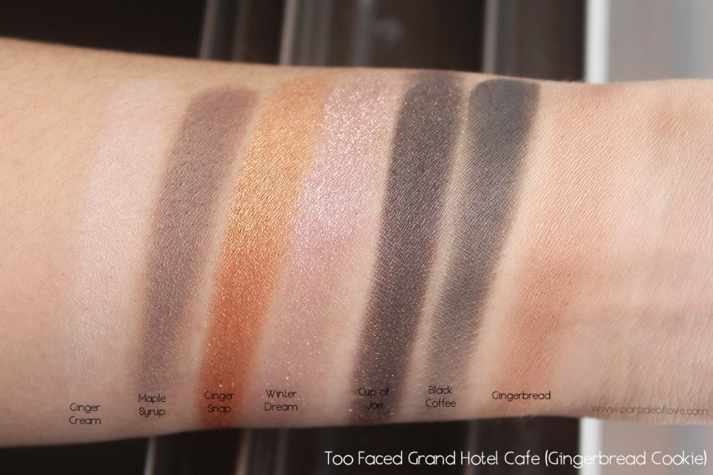 too-faced-grand-hotel-cafe-gingerbread-cookie-swatches
