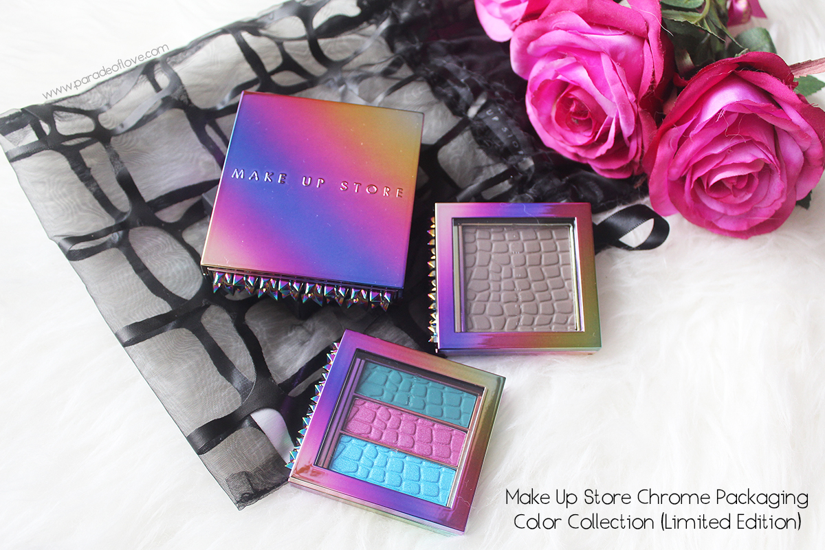 Party in style with Make Up Store's Chrome Packaging Color Collection Limited Edition: Review, Swatches & Makeup Look