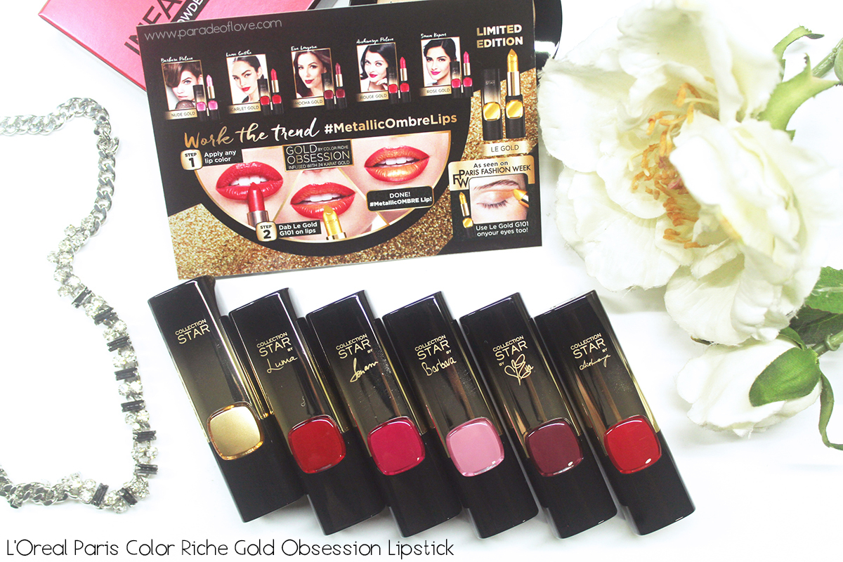 L'Oreal Paris Color Riche 24 Karat Gold Lipsticks