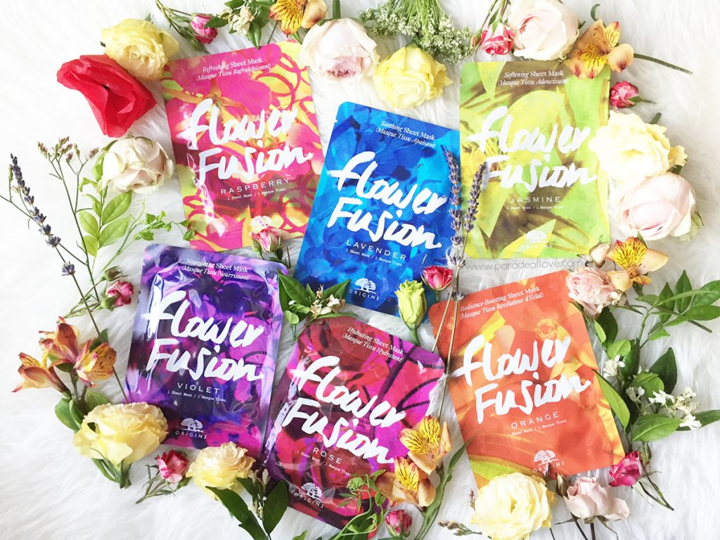 Origins Flower Fusion Sheet Masks